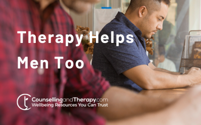 Therapy helps men too. So why might they be reluctant to seek help?